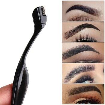 NEW 2Pcs Portable Makeup Eye Brow Razor Blade Eyebrow Trimmer Shaper Shaver Face Hair Remover Set Women Fashion Makeup
