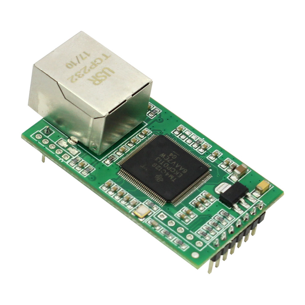 Q00226 USR-TCP232-E2 Pin Type Serial UART TTL to LAN Ethernet Module---2 serial ports new original cp1l l20dt d plc cpu 24dc input 12 point transistor output 8 point