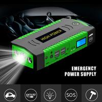 High Power 12V Car Jumper Starter Emergency Power Bank USB Car Charger For Car Battery Booster Buster Auto Starting Device LED