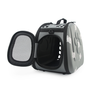 Image 4 - Cat Pattern Blue Dog Carrier Bag Portable Cats Handbag Foldable Travel Bag Puppy Carrying Shoulder Pet Bags