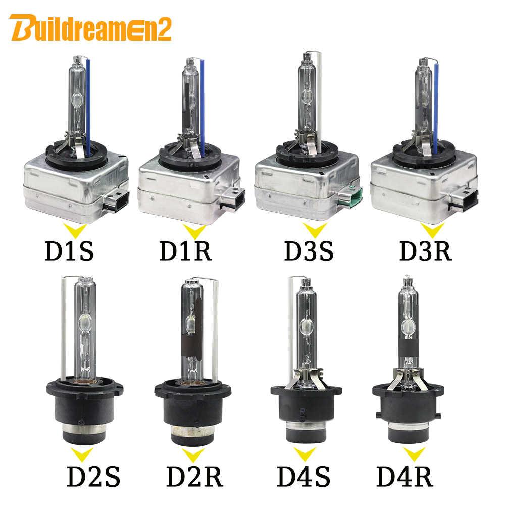 Buildreamen2 2X35 Вт HID ксеноновый светильник лампочка D1S D1C D2S D2C D2R D3S D3R D4S D4R 4300K 6000K 8000K 10000K 12V автомобилей головной светильник