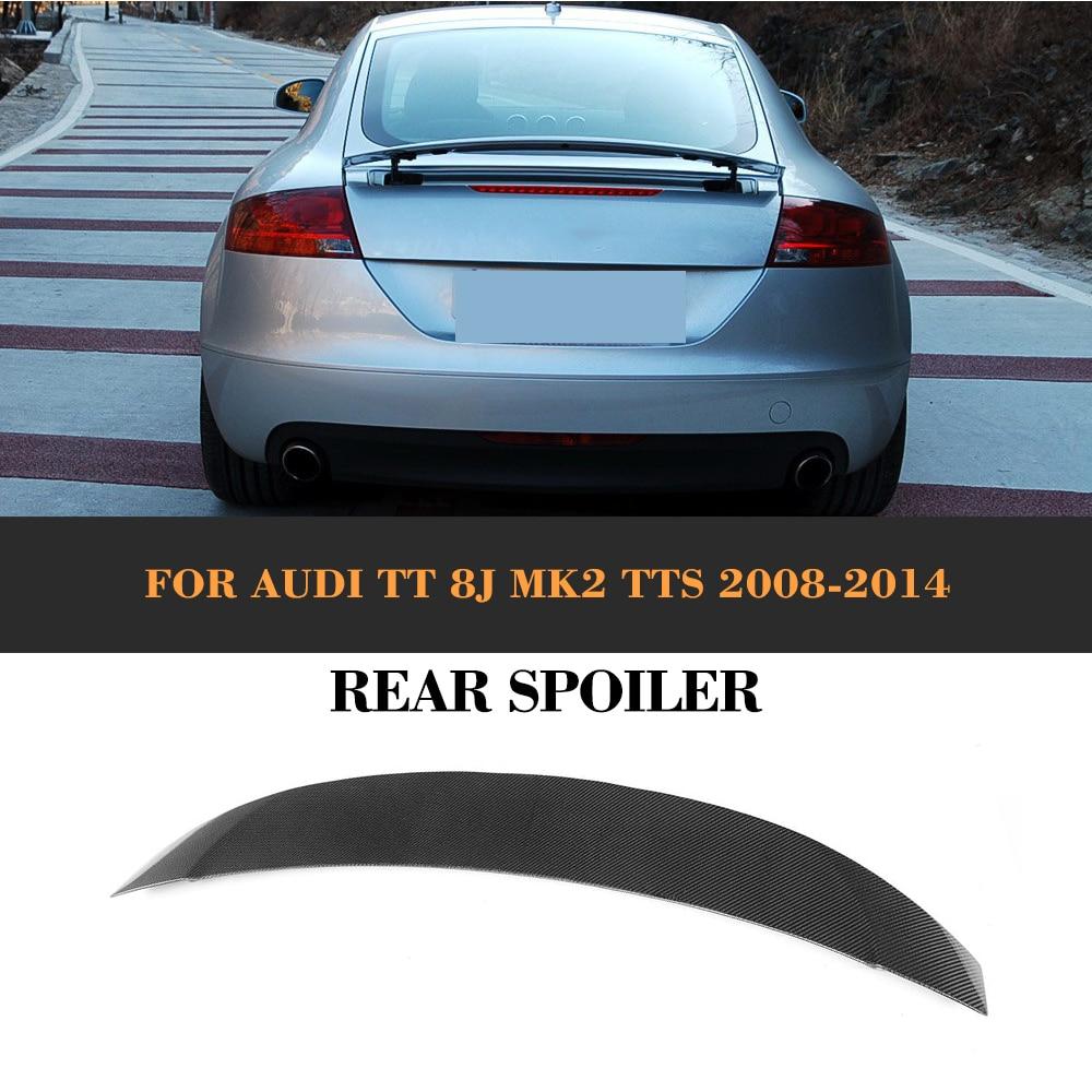 Carbon Fibre Rear Trunk Boot Spoiler Wing for AUDI TT 8J ...