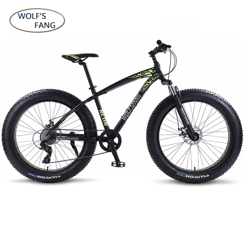Wolf's Fang Bicycle Mountain Bike Bmx 8 Speed Bikes Fat Bike Mtb Road  Bikes 26*4.0 Snow Bicycles Free Shipping