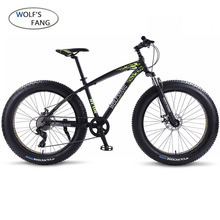 wolfs fang Bicycle Mountain Bike bmx 8 speed Bikes Fat bike mtb road bikes 26*4 0 Snow Bicycles free shipping cheap Aluminum Alloy Unisex 0 1 m3 160-185cm Spring Fork (Low Gear Non-damping) Front and Rear Mechanical Disc Brake Hard Frame (Non-rear Damper)