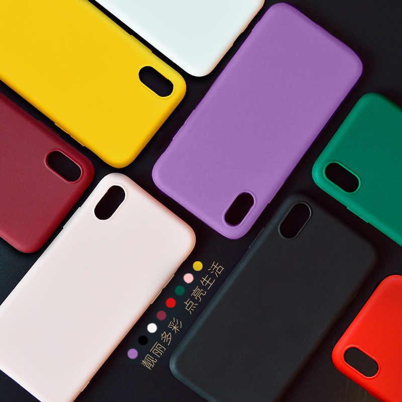 超薄型カラフルなクリア透明ソフト曇らさカバー電話ケース iphone 7 7 プラス 6 6 s 6 s-plus 8 8 プラス 10 X XS 最大 XR ケース