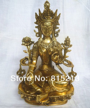 wang 000160 Collectible CHINESE statues Copper Buddha