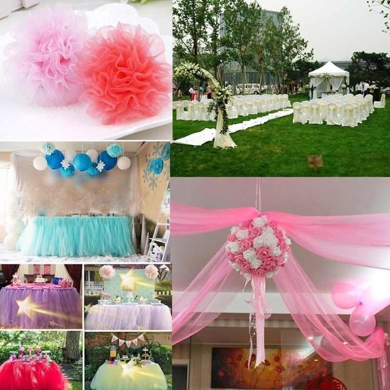 25 Yards 15 Cm Tulle Roll Tutu Kain Pernikahan Dekorasi Organza Laser DIY Kerajinan Tutu Lembut Pesta Ulang Tahun Baby Shower perlengkapan