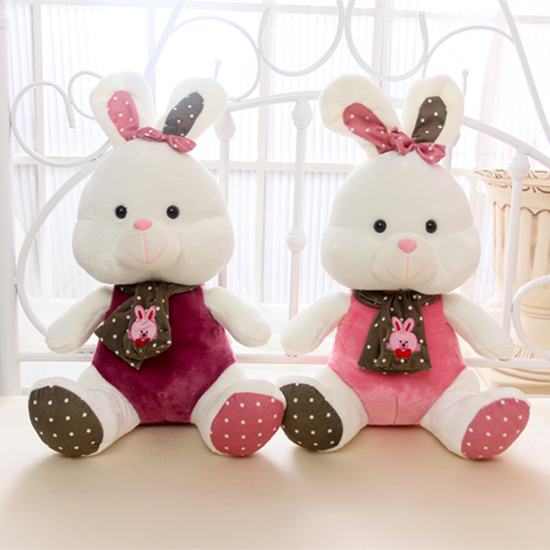 Cute couple scarves rabbit rabbit plush pillow doll birthday Valentine's Day gift peluche kawaii 60cm new queen couple rabbit plush toy of peter rabbit doll wearing glasses rabbit doll valentine s day gift