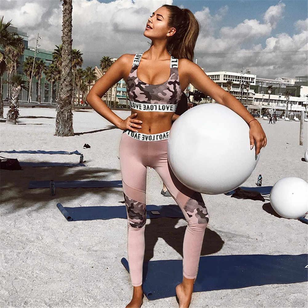 Женский спортивный костюм, женская одежда для фитнеса, спортивная одежда, набор для йоги, беговые костюмы, спортивная одежда, леггинсы для бега, Женский комплект