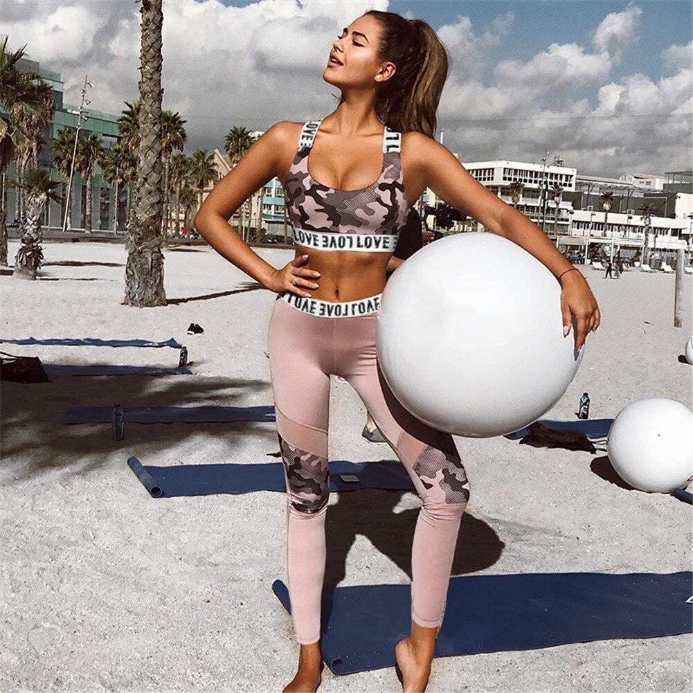 Weibliche Sport Anzug Frauen Fitness Kleidung Sport Wear Yoga Set Gym Jogging Anzüge Sportswear Laufen Leggings Frauen Set