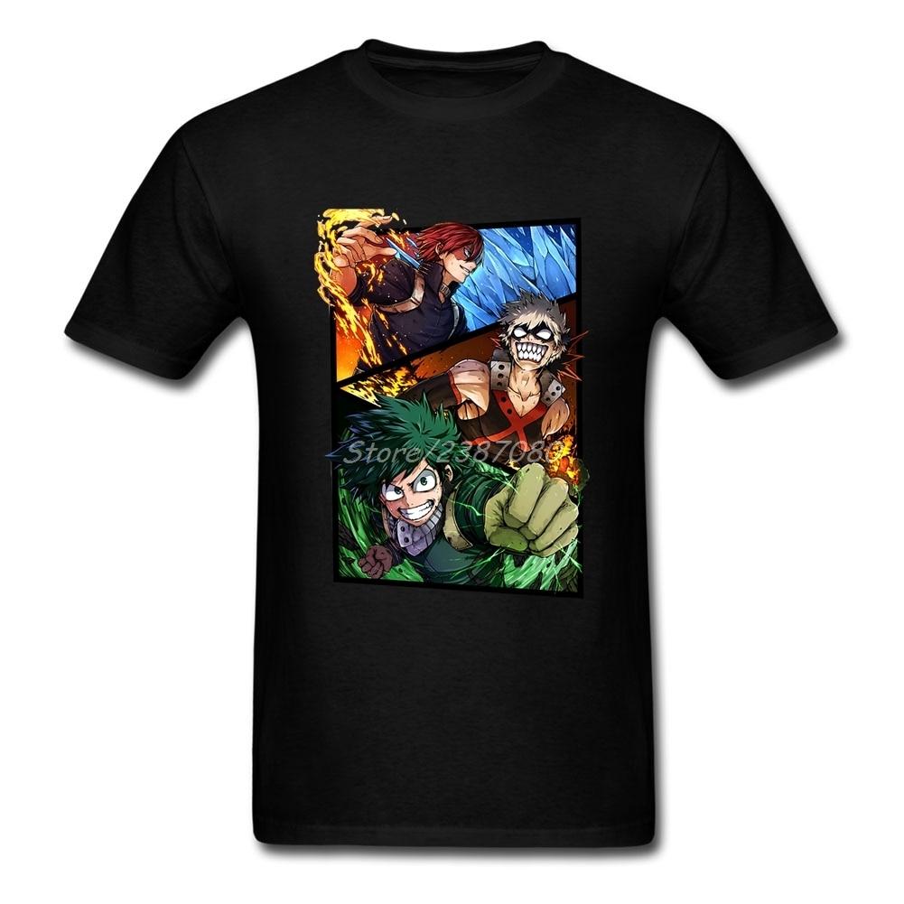 My Hero Academia T Shirt O-neck Cotton Short Sleeve Custom  T-shirts Fashion Vegan Plus Size Tee Shirts Homme