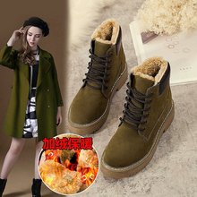 Classic Women Winter Boots Suede Ankle Snow Boots Female Warm Fur Plush Insole High Quality Botas Mujer ghnb