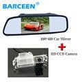 """De imagem CCD carro reserva câmera 4 led com 5 """"monitor do carro para Kia K2 Rio hatchback ceed 2013 para Solaris Hyundai (verna) hatchback"""