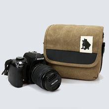 Новая мода холст камера сумка холст для nikon canon sony panasonic samsung fujifilm olympus