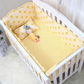 Promotion! 6/7PCS Cotton Curtain Crib Bumper Baby Cot Sets Baby Bed Bumper ,120*60/120*70cm promotion 6 7pcs bear bedding crib set 100% cotton crib bumper baby cot sets baby bed bumper duvet cover 120 60 120 70cm