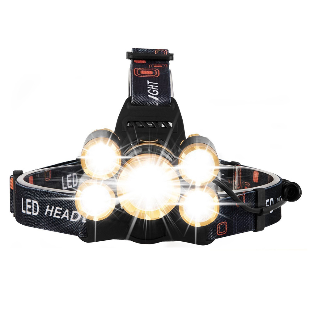 Powerful T6 Headlamp Rechargeable Zoomable Focus Frontale LED Head Lamp Flashlight Waterproof Torch 4 Modes Adjustable Headlight r3 2led super bright mini headlamp headlight flashlight torch lamp 4 models