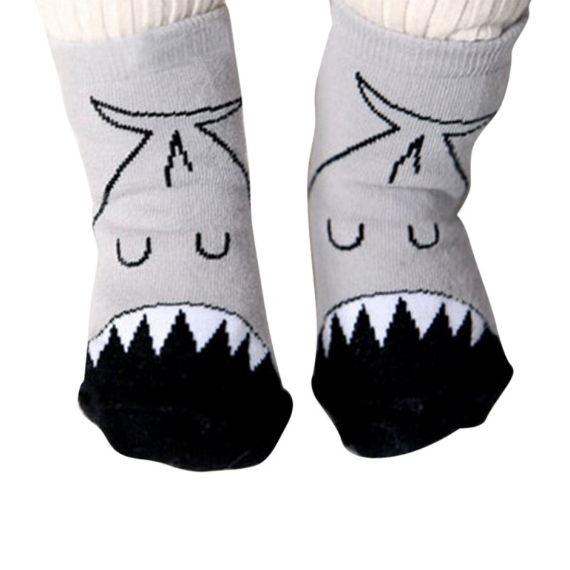 Baby Infant Soft Socks Newborn Girls And Boys Cartoon Cute Crib Socks For Winter S/M Soc ...