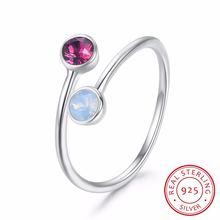 Lekani кристаллы swarovski круглые открытые кольца с изменяемыми