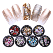 1 Box Mixed Colorful Rhinestones For Nails 3D Crystals Stone Nail Art Decoration Manicure DIY Design