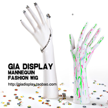 Free Shipping Mannequin Manequin Dummy Realistic D3 White Female Mannequin Hand For Jewelry Watch Display