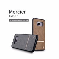 For Samsung Galaxy S8 Nillkin Mercier Luxury Leather Metal Back Cover Case For Samsung Galaxy S8