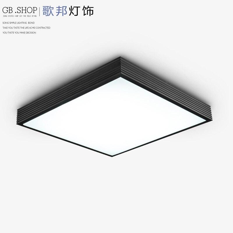 Moderno e minimalista creativo HA CONDOTTO l'illuminazione degli uffici rettangolare camera da letto soggiorno soffitto lampada da soffitto lampada da soffitto-in Lampade a sospensione da Luci e illuminazione su CHAO PENG B Store