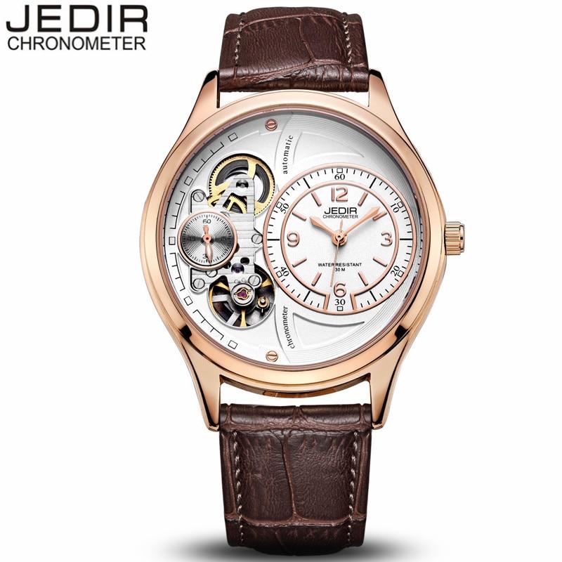 Famous Brand JEDIR Luxury Mechanical Watch Men Sport Waterproof Wristwatch Men's Fashion Clock Leather Watches relogio masculino