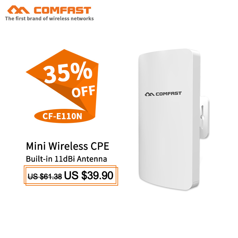 1-2km longue portée amplificateur extérieur mini CPE sans fil pont wifi point d'accès antenne pour IP caméra CPE Client routeur répéteur