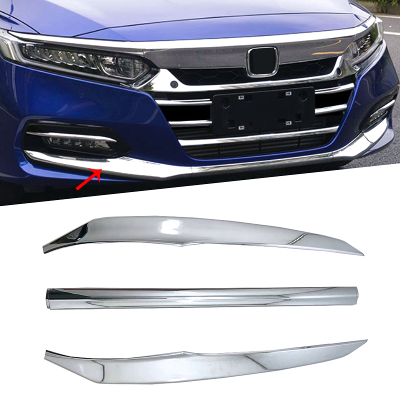 ABS Front Head Bottom Protection Bumper Panel Molding Garnish Cover Trim 3 Colors Fit For Honda Accord 10th 2018 2019