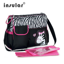 Hot Sales Free Shipping Fashion Baby Diaper Bag Nappy Bag Cute Zebra And Giraffe Pattern