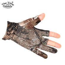 3 Shorter Finger Waterproof Fishing Gloves Anti-Slip Elastic Thin Mitten Camping Cycling Hunting Half-Finger Gloves
