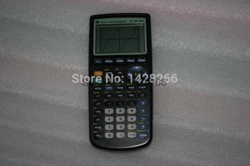 2016 95% New Second Hand Texas Instruments Ti-83 Plus Graphing Calculator New Arrival Rushed Plastic Calculator Free Shipping