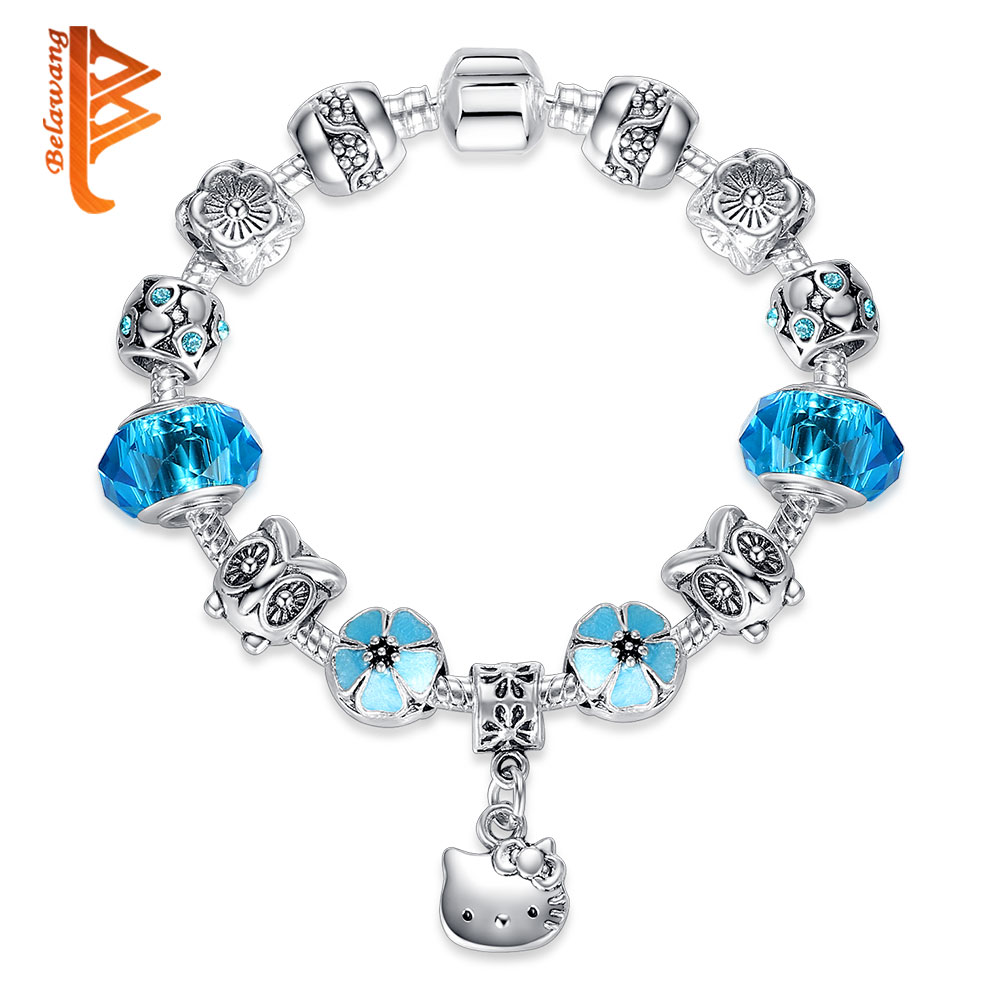 BELAWANG Lovely Gift Candy Styles Murano Glass Beads Kitty ...