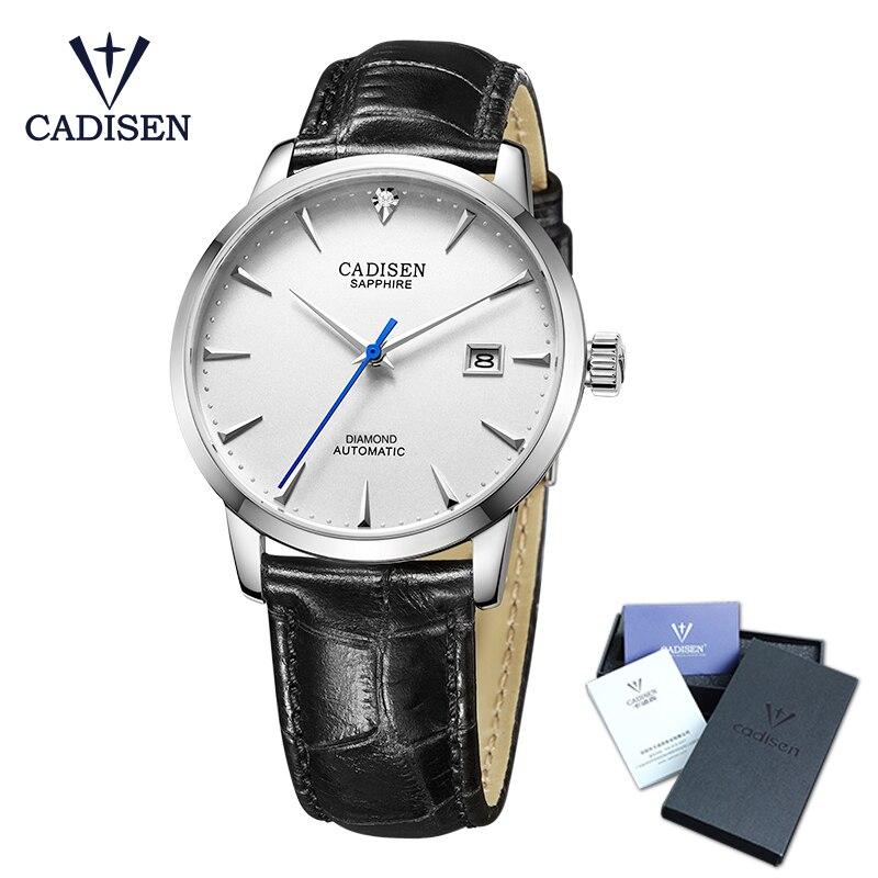 CADISEN Для мужчин часы 2018 Горячая наручные бренд класса люкс известный мужской часы автоматические часы настоящие бриллианты часы Relogio Masculino