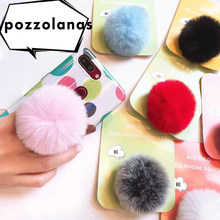 Pozzolanas Univeral Lazy Mobile Phone Holder Accessory cute Plush Colorful Adjustable Cellphone Tablet Desktop Holder Stand(China)