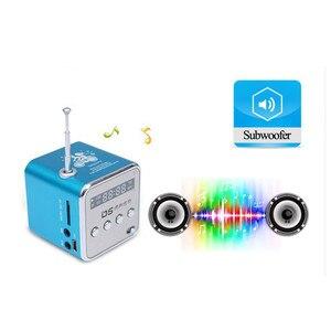 Image 4 - Taşınabilir Mini FM radyo hoparlör USB MP3 müzik çalar ses kutusu desteği Micro SD TF AUX LCD ekran ile PC için dizüstü hediye