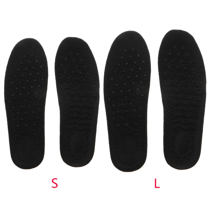 Soumin Unisex Memory Foam Air Cushion Heel Insertion Lift Height Increase Insoles Shoe Cushions Comfortable Insoles for Men and thinkthendo all size anti arthritis memory foam sport shoe insoles unisex for men and women
