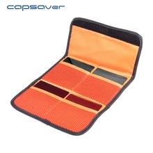 Capsaver Bolsa Carteira Caso Saco de Filtro Filtro de Lente 4 Bolsos compartimento para 37mm-82mm UV CPL Filtro Cokin P Series Praça bolsa