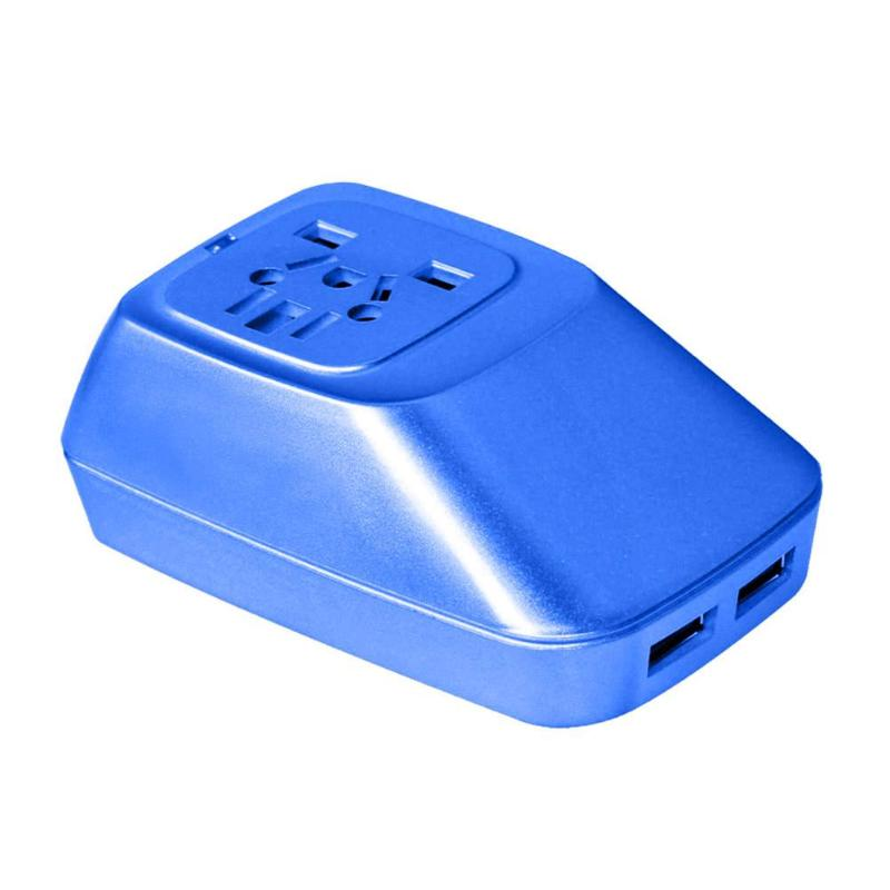 Universal 6A 250V~1500W Max Dual USB 5V 2.1A Worldwide Travel Charger Converter Socket Adapter with LED Indicator