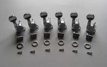 KAISH Guitar Tuning Keys Tuners Machine Heads with Oval buttons Chrome