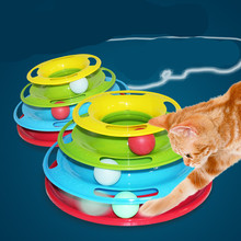Pet-Toys Interactive Crazy Ball-Disk Cat Funny Hight-Quality Top Amusement-Plate Turntable