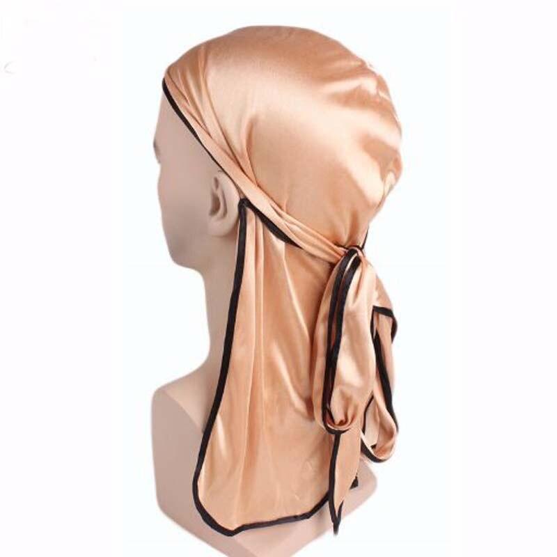 XEONGKVI Long Tail Silk Satin Elastic Pirates Silky Durag Spring Summer Cover Head   Skullies     Beanies   Women Hats Chemotherapy Hat