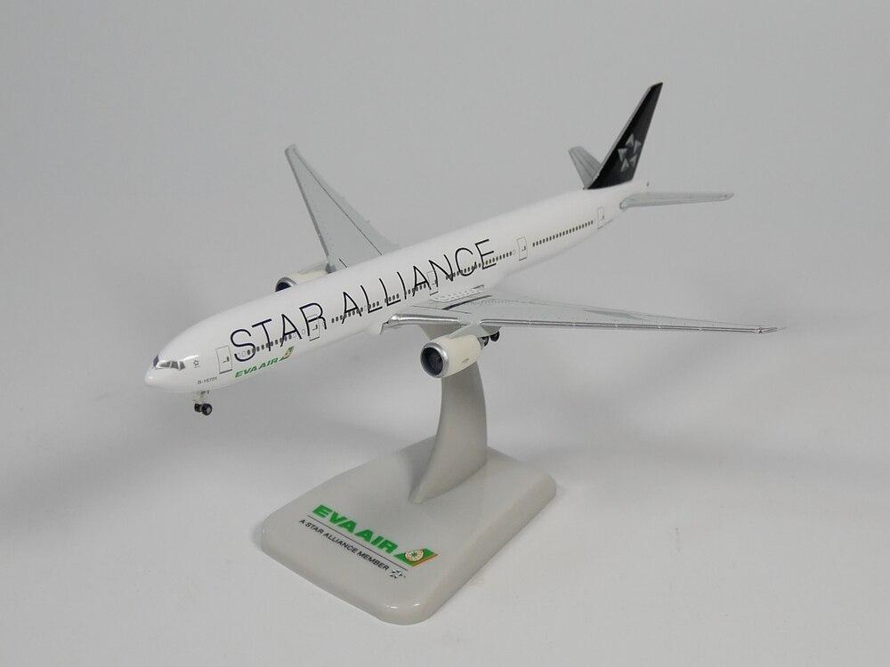 Hogan 1:500 EVA AIR Boing 777-300ER B-16701 STAR ALLIANCE Diecast Airplane Model