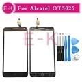 """Alta qualidade 5.5 """"para alcatel one touch pop 3 ot5025 touch screen digitador lente de vidro do painel sensor frete grátis + ferramentas"""