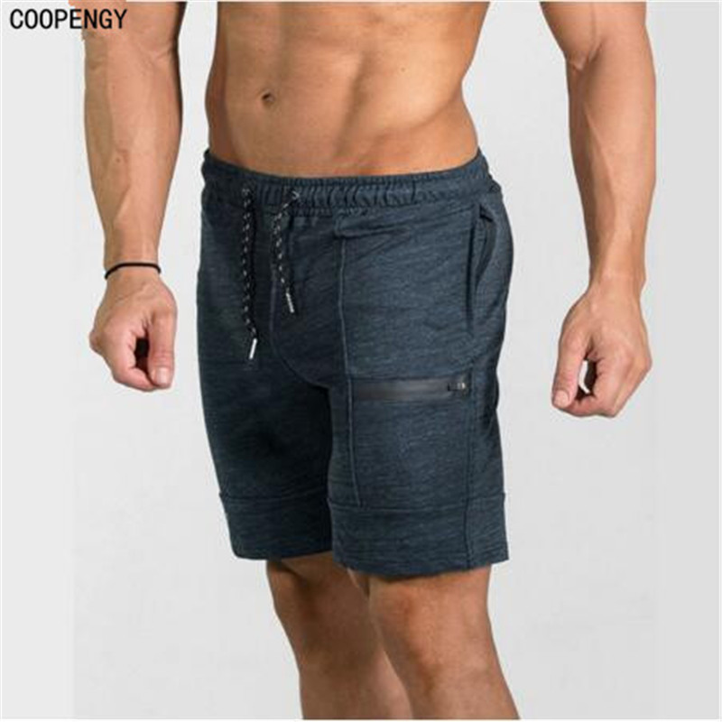 2017New Fashion Men Sporting Beaching Shorts Trousers Cotton Bodybuilding Sweatpants Fitness Short Jogger Casual Gyms Men Shorts