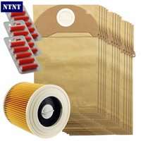 Free Post New 15 Pcs Dust Dust Bag Filter Kit For Karcher A2054 And A2064 Vacuum