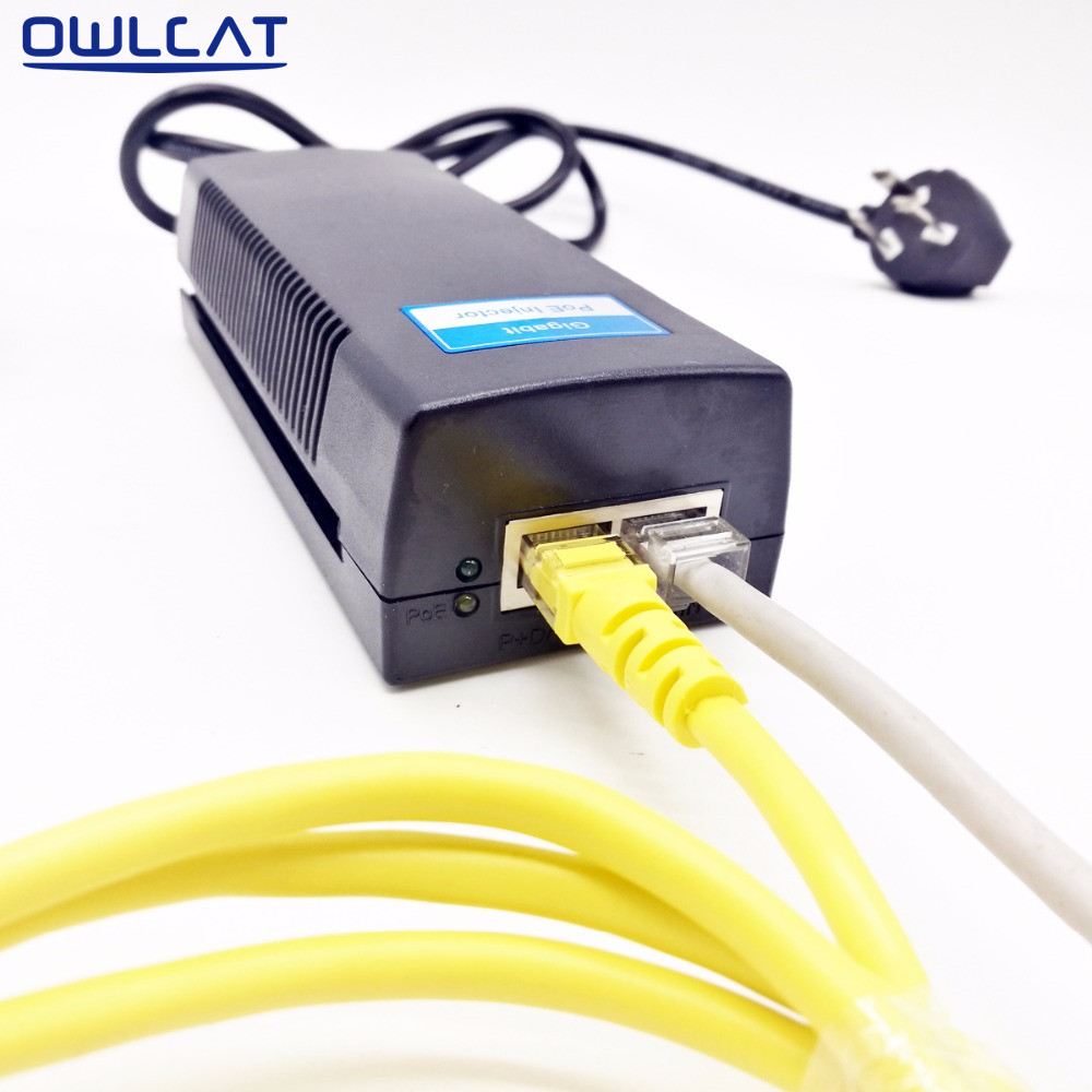 poe switch injector dc 48v 1 0a power over ethernet ieee802 3af at rh aliexpress com