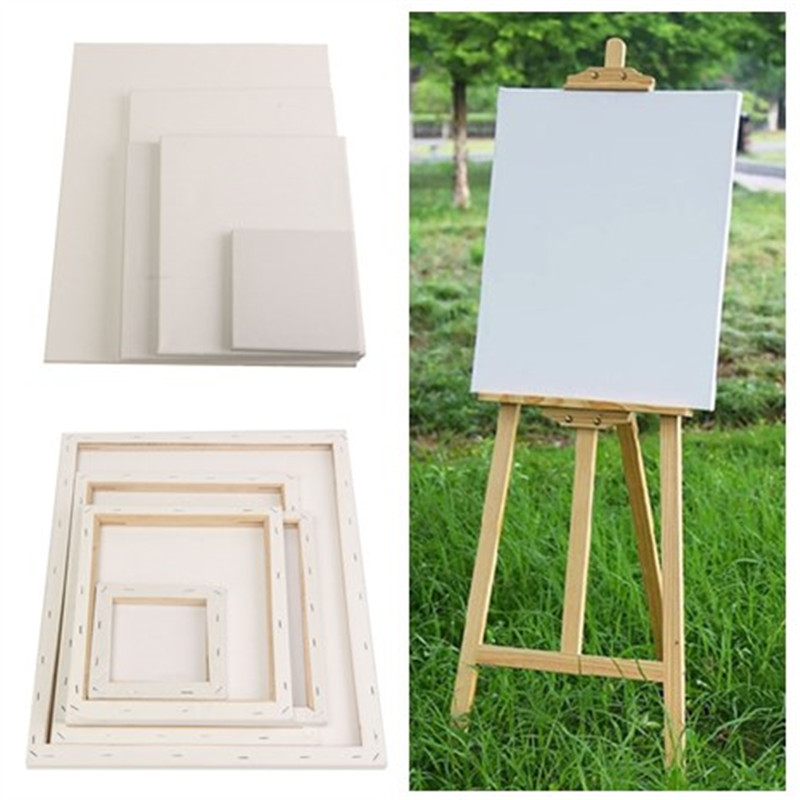 Blank Canvas Board Wooden Frame Artist Oil Acrylic Paints for Kids DIY Draw