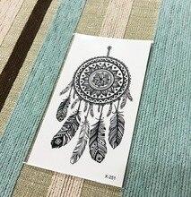 Waterproof Temporary Tattoo Sticker 10.5×6 Cm Feather Tattoo Elk Water Transfer Fake Flash Tattoo For Men Girl