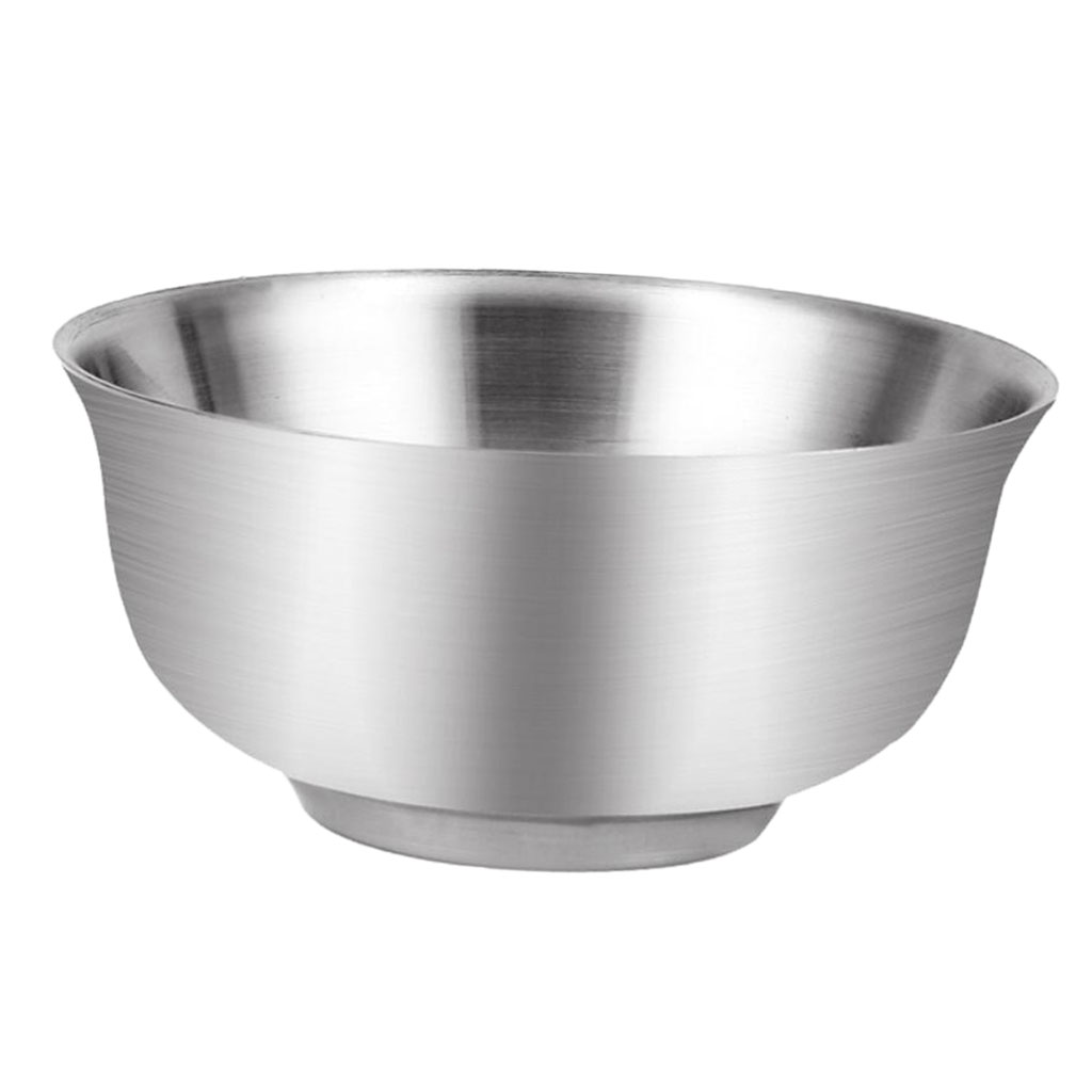 Bowl For Fruit Us 6 17 10 Off Stainless Steel Serving Bowls For Fruit Rice Salad Side Dishes Soup Dessert Food Container For Kids Silver In Bowls From Home